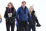 Fotosessie met de koninklijke familie in Lech /// Photoshoot with the Dutch royal family in Lech .<br /> <br /> Op de foto/ On the photo: Koningin Maxima en Koning Willem Alexander metr Prinses Amalia ///// Queen Maxima and King Willem Alexander with princess Amalia