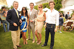 Left to right, ARNAUD BAMBERGERD, LOHARLEE ASTOR, DAVID & GABRIELLA PEACOCK and the HON.WILL ASTOR at a luncheon hosted by Cartier for their sponsorship of the Style et Luxe part of the Goodwood Festival of Speed at Goodwood House, West Sussex on 4th July 2010.