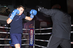 Peter McGrail (left) during a public workout at the Grand Central Hall, Liverpool. Picture date: Wednesday October 6, 2021.