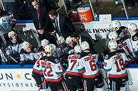 KELOWNA, BC - FEBRUARY 8: Kelowna Rockets Assistant Coach Vernon Fiddler stands on the bench during third period against the Portland Winterhawks at Prospera Place on February 8, 2020 in Kelowna, Canada. (Photo by Marissa Baecker/Shoot the Breeze)