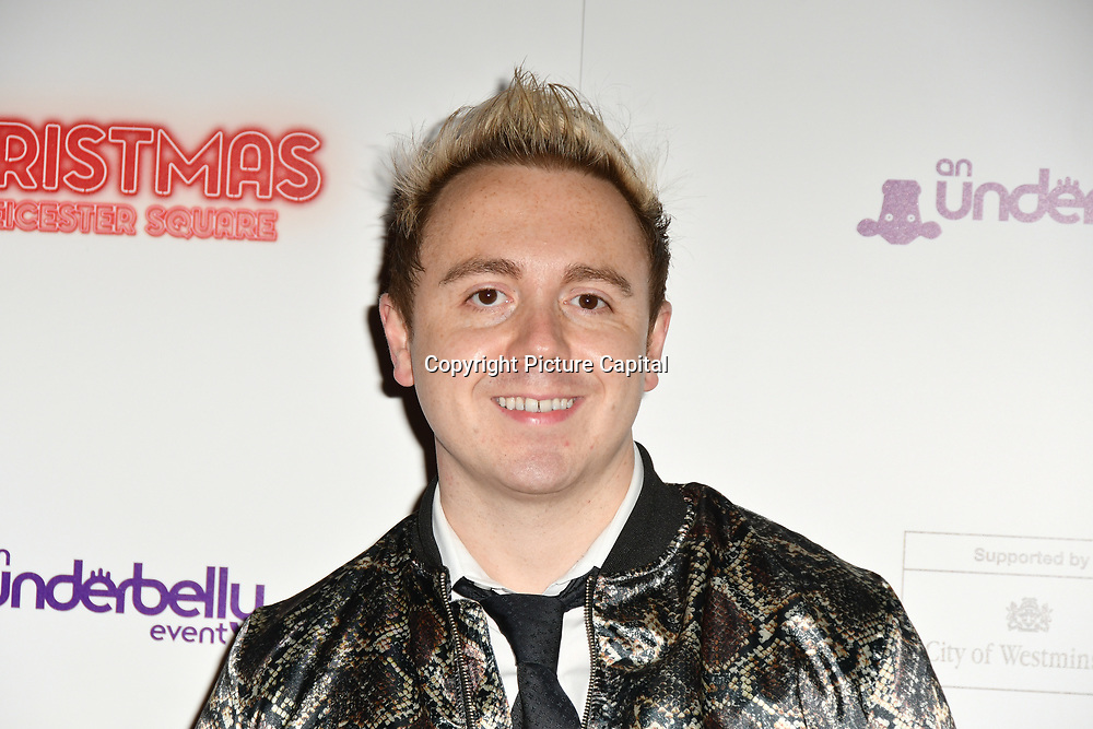 John Galea attends Briefs: Close Encounters - press night an All-male 'Boylesque' group show off their circus skills, drag acts and raucous comedy routines at The Spiegeltent Leicester Square on 14 November 2018, London, UK.