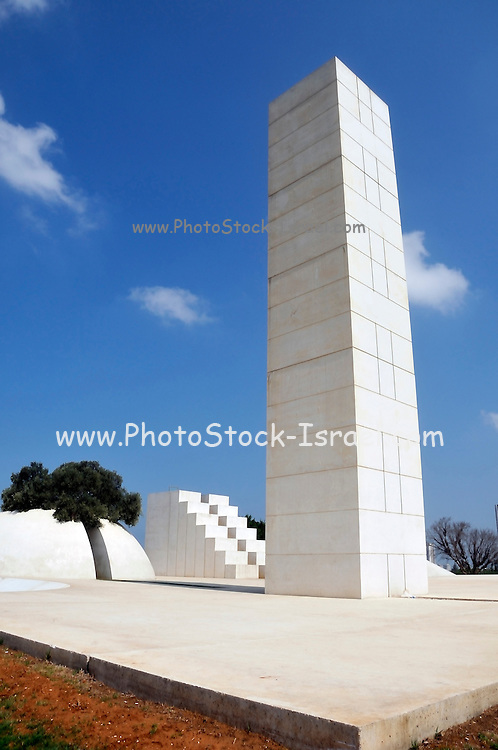 Israel, Tel Aviv, Wolfson Park, White City Statue (1977 - 1988) a sculpture by Danny Karavan (born 1930). This sculpture is also known as White Square