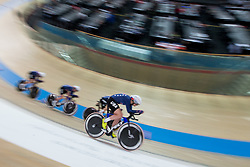 February 28, 2019 - Pruszkow, Poland - Jennifer Valente (USA),Christina Birch (USA),Kimberly Geist (USA),Emma White (USA) on day two of the UCI Track Cycling World Championships held in the BGZ BNP Paribas Velodrome Arena on February 28, 2019 in Pruszkow, Poland. (Credit Image: © Foto Olimpik/NurPhoto via ZUMA Press)