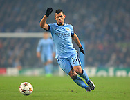 Sergio Aguero of Manchester City - Manchester City vs. CSKA Moscow - UEFA Champions League - Etihad Stadium - Manchester - 05/11/2014 Pic Philip Oldham/Sportimage
