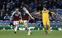 Burnley's Ashley Barnes shields the ball from Brighton & Hove Albion's Davy Propper<br /> <br /> Photographer Rich Linley/CameraSport<br /> <br /> The Premier League - Burnley v Brighton and Hove Albion - Saturday 8th December 2018 - Turf Moor - Burnley<br /> <br /> World Copyright © 2018 CameraSport. All rights reserved. 43 Linden Ave. Countesthorpe. Leicester. England. LE8 5PG - Tel: +44 (0) 116 277 4147 - admin@camerasport.com - www.camerasport.com