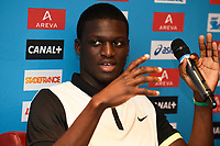 Kirani James of Grenada answers questions during the Press Conference of the Diamond league, Meeting Areva 2015, at Mercure Paris Centre Eiffel, Paris, France, on July 3, 2015 - Photo Jean-Marie Hervio / KMSP / DPPI