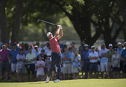 May 26, 2018 - Fort Worth, TX, USA - FORT WORTH, TX - MAY 26, 2018 - Steve Stricker hits his approach to the 7th hole during the third round of the 2018 Fort Worth Invitational PGA at Colonial Country Club in Fort Worth, Texas (Credit Image: © Erich Schlegel via ZUMA Wire)