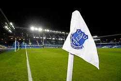 General View of an Everton corner flag inside Goodison Park - Photo mandatory by-line: Rogan Thomson/JMP - 07966 386802 - 03/12/2014 - SPORT - FOOTBALL - Liverpool, England - Goodison Park - Everton v Hull City - Barclays Premier League.
