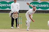 Ben Raine bowling during the Specsavers County Champ Div 2 match between Durham County Cricket Club and Leicestershire County Cricket Club at the Emirates Durham ICG Ground, Chester-le-Street, United Kingdom on 21 August 2019.