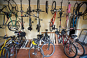 From 2008. Bicycle room at LA Eco-Village. Started in 1993, LA Eco-Village demonstrates the processes for creating a healthy neighborhood ecologically, socially and economically and to reduce environmental impacts while raising the quality of neighborhood life.