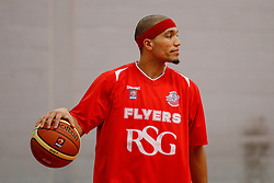 Greg Streete of Bristol Flyers warms up before the match - Photo mandatory by-line: Rogan Thomson/JMP - 07966 386802 - 13/02/2015 - SPORT - BASKETBALL - Bristol, England - SGS Wise Arena - Bristol Flyers v Surrey United - BBL Championship.