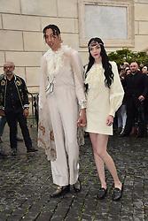 Rome, Piazza Del Campidoglio Gucci Parade Event at the Capitoline Museums, In the picture: Ghali with his girlfriend Mariacarla Boscono