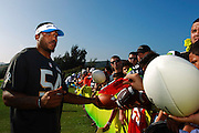 January 28 2016: Seattle Seahawks linebacker Bobby Wagner signs autographs after the Pro Bowl practice at Turtle Bay Resort on North Shore Oahu, HI. (Photo by Aric Becker/Icon Sportswire)