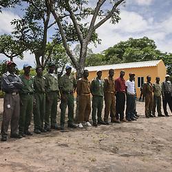Guardas florestais do Parque Nacional da Cangandala na província de Malange no ambito do projecto de preservação da Palanca Negra Gigante (Hippotragus niger variani) iniciado e mantido pelo Dr. Pedro Vaz Pinto. Angola