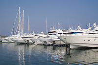 Boats moored in Antibes the South of France
