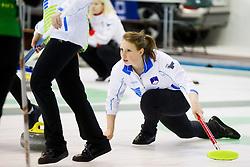 Nika Svetina of Slovenia during curling match between National teams of Slovenia and Lithuania in 6th Round of European Curling Championship on April 29, 2016 in Ledena dvorana Zalog, Ljubljana, Slovenia. Photo By Urban Urbanc / Sportida