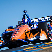 SEPT 16, 2018 Sonoma, CA, U.S.A : Chip Ganassi Racing driver Scott Dixon (9) of New Zealand takes 2nd place and over all Verizon Indycar Championship winner during the GoPro Grand Prix of Sonoma Verizon Indycar Championship at Sonoma Raceway Sonoma, CA  Thurman James / CSM