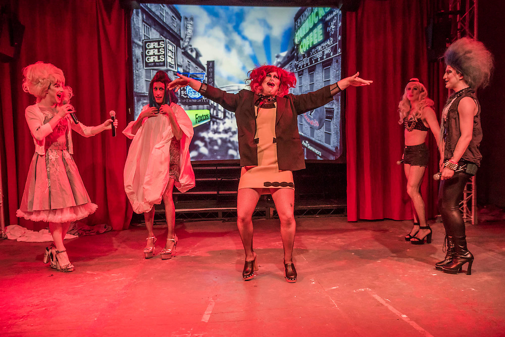 Denim, a Cambridge founded musical comedy drag troop who last summer performed with Florence and The Macvhine,  perform their brand new show Interstellar at Vault festival. The show runs froim 24  Feb to 6 March 2016.