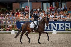 Möller Eva, GER, Candy Old<br /> World ChampionshipsYoung Dressage Horses<br /> Ermelo 2018<br /> © Hippo Foto - Dirk Caremans<br /> 04/08/2018