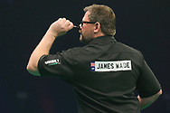James Wade during the PDC Unibet Premier League darts at Marshall Arena, Milton Keynes, United Kingdom on 27 May 2021.