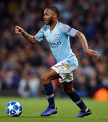 Manchester City's Raheem Sterling during the UEFA Champions League match at the Etihad Stadium, Manchester. PRESS ASSOCIATION Photo. Picture date: Wednesday November 7, 2018. See PA story SOCCER Man City. Photo credit should read: Martin Rickett/PA Wire