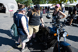 Indian Motorcycles corporate display on Lazelle Street during the Sturgis Motorcycle Rally. SD, USA. Friday, August 13, 2021. Photography ©2021 Michael Lichter.