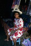 Polynesian woman, Papeete, Tahiti, French Polynesia