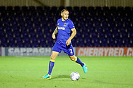 AFC Wimbledon defender Barry Fuller (2) dribbling during the Pre-Season Friendly match between AFC Wimbledon and Burton Albion at the Cherry Red Records Stadium, Kingston, England on 21 July 2017. Photo by Matthew Redman.