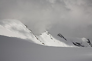 View across the Breithornplateau towards the Breithorn and Roccia Nera, nr Zermatt, Switzerland