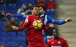 November 27, 2017 - Barcelona, Spain - Jorge Molina during La Liga match between RCD Espanyol v Real Betis Balompie,in Barcelona, on November 27, 2017. Photo: Joan Valls/Urbanandsport/Nurphoto  (Credit Image: © Joan Valls/NurPhoto via ZUMA Press)