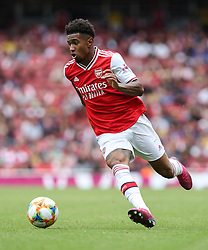 Reiss Nelson of Arsenal runs with the ball - Mandatory by-line: Arron Gent/JMP - 28/07/2019 - FOOTBALL - Emirates Stadium - London, England - Arsenal v Olympique Lyonnais - Emirates Cup