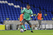 Everton midfielder Alex Iwobi (17) during the Premier League match between Brighton and Hove Albion and Everton at the American Express Community Stadium, Brighton and Hove, England UK on 12 April 2021.