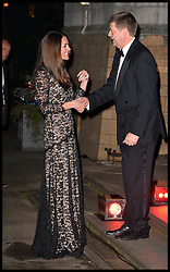 The Duke and Duchess of Cambridge arrive for a screening of David Attenborough's Natural History Museum Alive 3D at the Natural History Museum in London, Wednesday, 11th December 2013. Picture by Andrew Parsons / i-Images