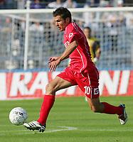 "Adrian Mutu (Fiorentina)<br /> Italian ""Serie A"" 2006-07<br /> 15 Oct 2006 (match 6)<br /> Empoli-Fiorentina 1-2<br /> ""Castellani"" Stadium-Empoli-Italy<br /> Photographer Luca Pagliaricci INSIDE"