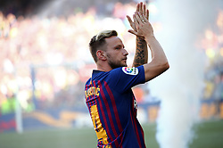 August 15, 2018 - Barcelona, Spain - Ivan Rakitic during the presentation of the team 2018-19 before the match between FC Barcelona and C.A. Boca Juniors, corresponding to the Joan Gamper trophy, played at the Camp Nou, on 15th August, 2018, in Barcelona, Spain. (Credit Image: © Joan Valls/NurPhoto via ZUMA Press)