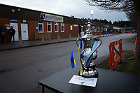 Football - 2018 / 2019 Emirates FA Cup - Fourth Round: AFC Wimbledon vs. West Ham United<br /> <br /> An FA Cup Trophy copy on display, at Cherry Red Records Stadium (Kingsmeadow).<br /> <br /> COLORSPORT/ASHLEY WESTERN