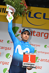 July 27, 2018 - Laruns, FRANCE - Spanish Mikel Landa of Movistar Team receives the combativity award for the most aggressive rider after the 19th stage of the 105th edition of the Tour de France cycling race, 200,5km from Lourdes to Laruns, France, Friday 27 July 2018. This year's Tour de France takes place from July 7th to July 29th. BELGA PHOTO DAVID STOCKMAN (Credit Image: © David Stockman/Belga via ZUMA Press)