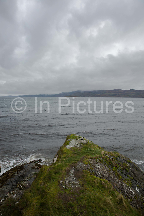 An overcast Loch Fyne on the 3rd November 2018 in Strathlachlan in the United Kingdom. Strathlachlan is on the Cowal peninsula in Argyll and Bute in the west of Scotland.