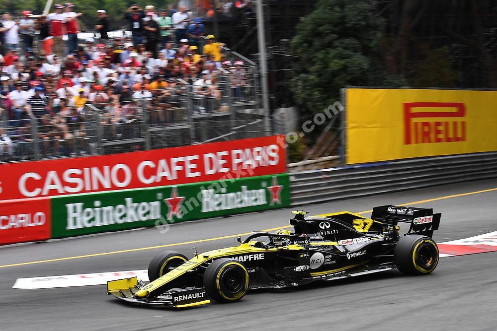 Daniel Ricciardo (Renault) during the 2019 Monaco Grand Prix. Photo: Grand Prix Photo