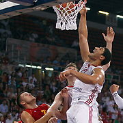 Turkey's Enes KANTER (R) during their Istanbul CUP 2011match played Montenegro between Turkey at Abdi Ipekci Arena in Istanbul, Turkey on 25 August 2011. Photo by TURKPIX