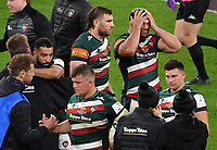 Rugby Union - 2020 / 2021 European Rugby Challenge Cup - Final - Leicester Tigers vs Montpellier - Twickenham<br /> <br /> Leicester Tigers' Ellis Genge dejected as they wait for their medals.<br /> <br /> COLORSPORT/ASHLEY WESTERN