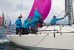 Largs Regatta Week 2017 <br /> Day 1<br /> GBR9470R, Banshee, Charlie Frize, CCC, Corby 33.<br /> <br /> Picture Marc Turner