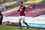 Burnley midfielder Jack Cork (4)warming up before  the FA Cup match between Burnley and Milton Keynes Dons at Turf Moor, Burnley, England on 9 January 2021.