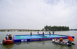 September 22, 2018 - Elina Svitolina of the Ukraine & Li Na of China play tennis on Wuhans East Lake ahead of the 2018 Dongfeng Motor Wuhan Open WTA Premier 5 tennis tournament (Credit Image: © AFP7 via ZUMA Wire)