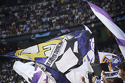 September 19, 2018 - Madrid, Spain - Fans and Flags in action during the UEFA Champions League match between Real Madrid and AS Roma at Santiago Bernabeu on September 19, 2018 in Madrid, Spain (Credit Image: © Jack Abuin/ZUMA Wire)