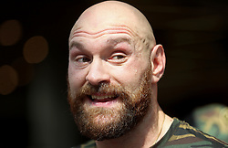 Tyson Fury during the public workout at Castle Court Shopping Centre, Belfast.