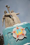 War memorial in Severobaikal, Siberia, Russia