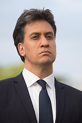 Parliament Square, Westminster, London, June 17th 2016. Following the murder of Jo Cox MP a vigil is held as friends and members of the public lay flowers, light candles and leave notes of condolence and love in Parliament Square, opposite the House of Commons. PICTURED: Ed Miliband.