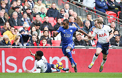 Ricardo Pereira of Leicester City takes the ball past Danny Rose of Tottenham Hotspur - Mandatory by-line: Arron Gent/JMP - 10/02/2019 - FOOTBALL - Wembley Stadium - London, England - Tottenham Hotspur v Leicester City - Premier League