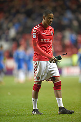Charlton Athletic's Ezri Konsa walks off the pitch at full time dejected after a home loss
